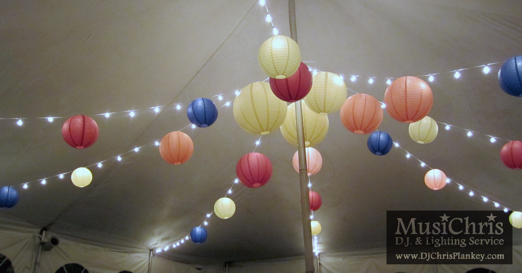 Round paper lanterns are available in many