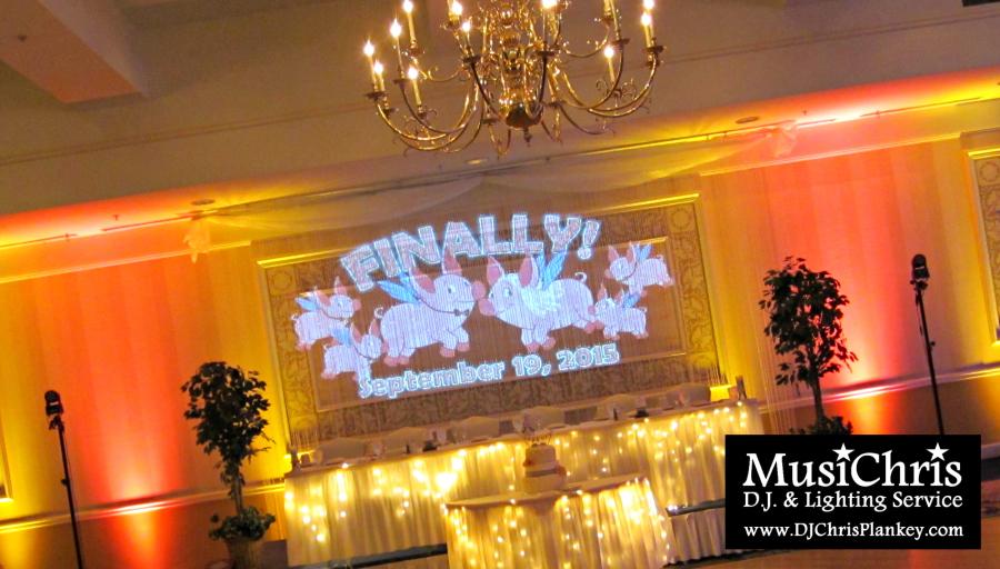 Custom Wedding Monogram Lighting Dj Pittsfield Western Ma
